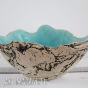 ceramika sardynia artystyczna turkusowa miseczka rozm s, miska, jak skała