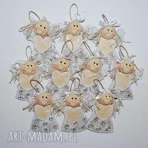kudełki - aniołki, anioły, dekoracja, prezent, chrzciny, komunia, ślub