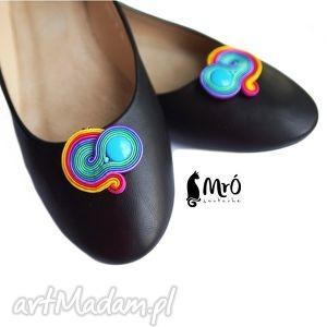 handmade ozdoby do butów kolorowe klipsy