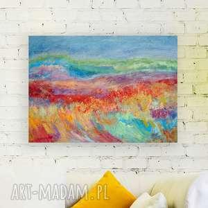 Pejzaż obraz olejny na płotnie, ręcznie malowany, kolorowy olej płótno