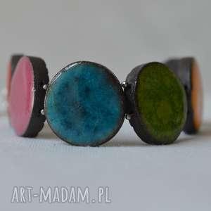 Bransoleta ceramiczna w soczystych kolorach smokfa bransoleta