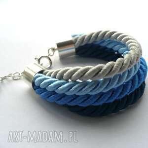 knot collection - blue ombre, sznurek