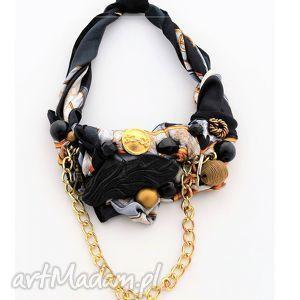 BLING naszyjnik handmade, naszyjnik, kolorowy, czarny, złoty, łańcuch