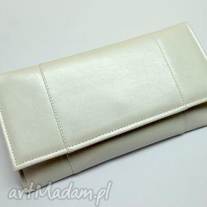handmade kopertówki kopertówka - perłowa