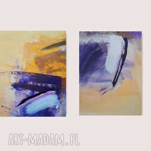 oryginalny prezent, dom z fioletem, obraz do salonu, abstrakcja