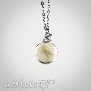 białe piórko - naszyjnik, piórko, szklany, piórka, delikatny, prezent