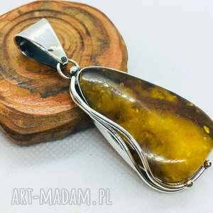 hand-made wisiorki wisiorek z bursztynem bałtyckim srebro 925