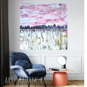 pastelowy obraz abstrakcyjny 90x90