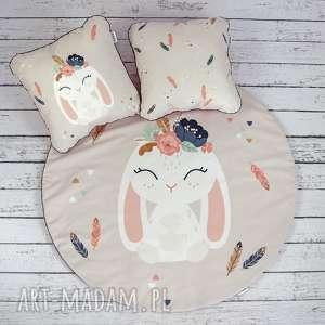 welurowa mata do zabawy oraz dwie poduszki bohemian friends, dywanik, dekoracyjny, bohemia