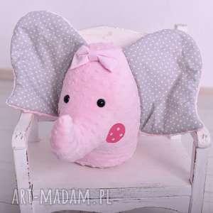 przytulanka dziecięca słoń głowa, poduszka słoń, minky