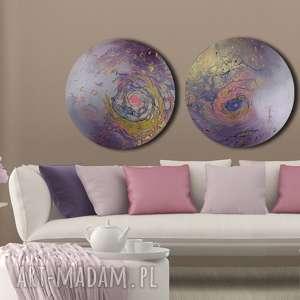 tryptyk geograficzny 28, kosmos, niebo, planeta, ziemia, tondo, okrągły obraz