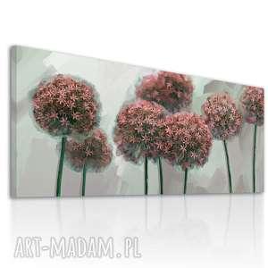 obraz na płótnie 120x50 - kwiaty czosnku 0325 wysyłka w 24h, nowoczesny