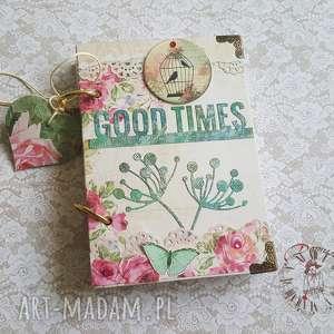 handmade scrapbooking notesy stylowy notes / z ptaszkami