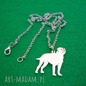 naszyjniki naszyjnik bulmastif pies nr 94, naszyjnik, z psem, rasy psów