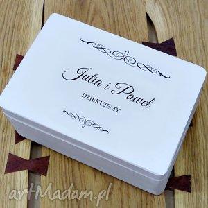 Prezent Ślubne pudełko na koperty Personalizowane Kopertówka, pomysł-na-prezent
