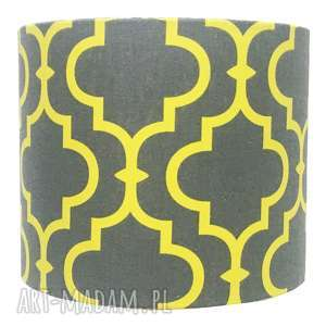 Abażur fresh yellow-grey 25x25x22cm od majunto dom abażury