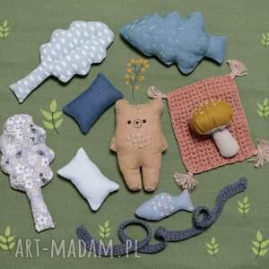 hand-made lalki zestaw leśne zwierzątka-niedźwiedź syryjski
