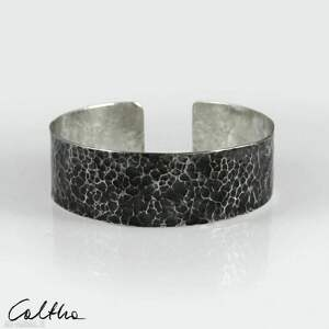 skała - metalowa bransoleta 210605-06, bransoletka, w kolorze srebra