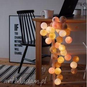 cotton ball lights pastels by pretty pleasure, salon, sypialnia, lampki, cotton