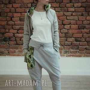 dres damski jungle - szary bluza i spodnie, komplet damski