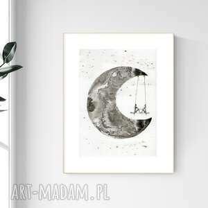 grafika a4 malowana ręcznie, minimalizm, abstrakcja czarno-biała, 2485245