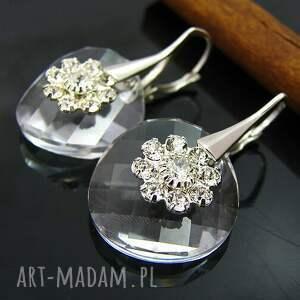 kolczyki amelia swarovski twist crystal, biżuteria