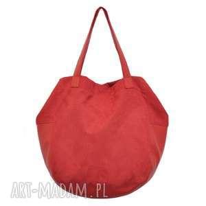 24-0008 Czerwona torebka damska worek / torba na studia SWALLOW, markowe-torebki