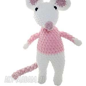 myszka szydełkowa przytulanka, dziecko, zabawka, szydelkowa, maskotka