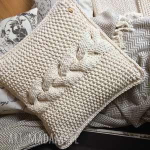 Poduszka dekoracyjna Bejou 40x40 cm, dosalonu, ozdoba, dekoracja, zesznurka, warkocz