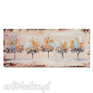 drzewa, nowoczesny obraz ręcznie malowany, obraz, nowoczesny, skandynawski