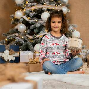 ręcznie wykonane pomysł co pod choinkę świąteczna bluza dziecięca christmas szara boże