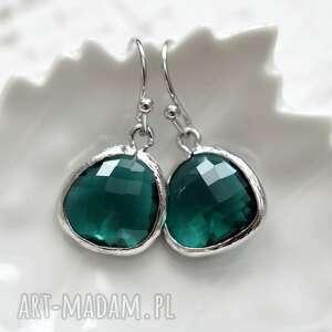 święta, emerald raindrops, srebro, długie, wiszące, kolorowe, kryształ