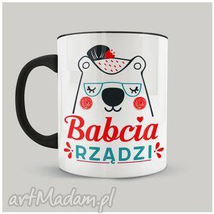 Prezent Kubek Babcia Rządzi, dzienbabci, personalizacja, babcia, sublimacja, ceramika