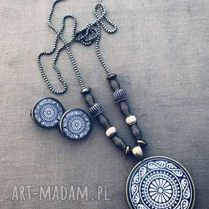 Mirka - komplet bead story boho, etno, jesień, kaboszon