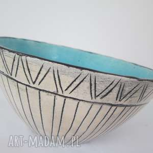 etniczna turkusowa miseczka, ceramika, miska, turkusowa, ceramiczna, etno