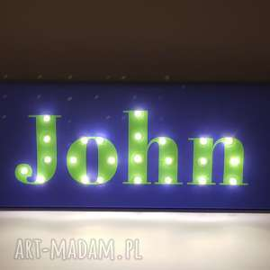 dekoracje obraz led z imieniem, neon, prezent dla chłopca, lampka, na 18