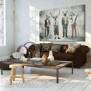 obraz na płótnie - chłopaki 02137 - 120x80 cm - chłopaki, rodzinka, kumple
