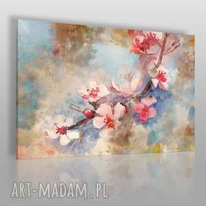 obraz na płótnie - kwiat wiśnia delikatny 90x60 cm 50801/90x60