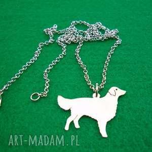naszyjnik flat coated retriever pies nr 84 - naszyjnik, pies, rasy psów