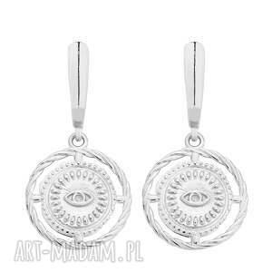 srebrne kolczyki z oczami