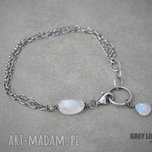 Moonstone mini, srebro, kamień, księżycowy, minerały
