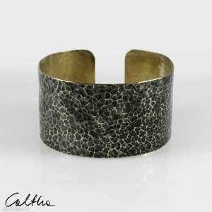lawa - mosiężna bransoleta 210605-02, bransoletka, szeroka