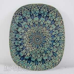 ceramika koronkowy owalny talerz, talerz ceramiczny, dekoracyjny pomysł