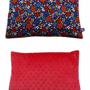 handmade pokoik dziecka poduszka, wzór kwiaty, oryginalny polar minky
