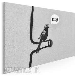obraz na płótnie - banksy ptak 120x80 cm (20020)