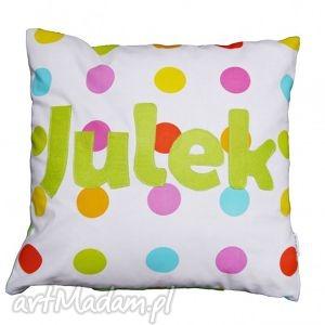 julek - grochy, imię, napis, litery, filc, bawełna