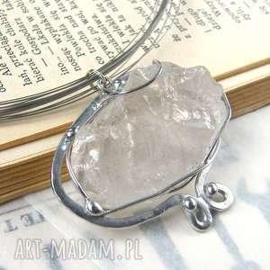 naszyjniki naszyjnik z naturalnym kryształem górskim, kryształ górski, wisiorek