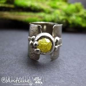 Bomba - Srebro, cyrkonia, art clay, pierścionek, srebro, artclay, cyrkonia
