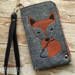 etui filcowe na telefon - lisek, smartfon, pokrowiec, fox, zwierzęta, prezent