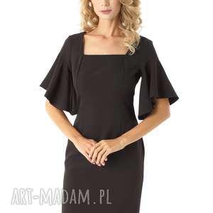 sukienki sukienka z kwadratowym dekoltem blanca czarna, elegancka